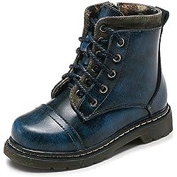 Tomwell Invernali Unisex Stivali Da Neve Bambino Ragazzi Stivaletti Caloroso Scarpe Sportive Martin Boots Blu EU 37
