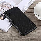Schütze Dein iPhone, TOTUDESIGN Deo Series Stoßfestes TPU + PU-Gehäuse für iPhone X/XS Für iPhone Handy. (Farbe : Schwarz)