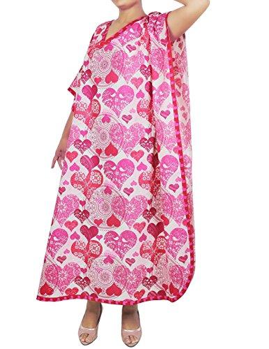 Freie Größe Tunika Lässig Baumwolle Kaftan Gedruckt Komfortable Luftige Kleidung Festkleid Für Frauen Indian Mehrfarbig 3