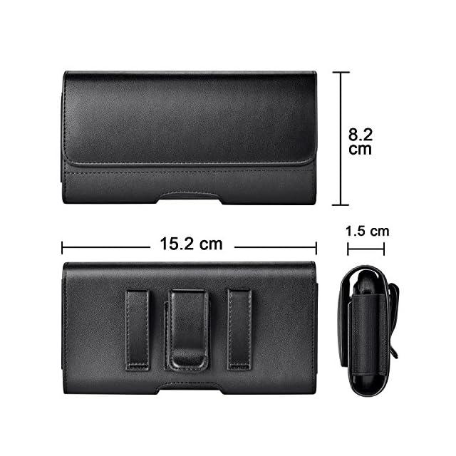 3f0e9ee6cc35b9 ... Mopaclle Galaxy S8 Ceinture Étui, Galaxy S9 Cuir de Protection  Porte-Cartes en Holster