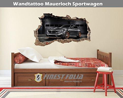 Preisvergleich Produktbild Wandtattoo Mauerloch Auto Wandfolie Aufkleber Wohnzimmer Schlafzimmer (WL24 M4 F82)