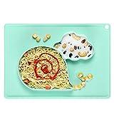 Napperon en Silicone Assiette pour Bébé Ventouse Antidérapante Portable Placemat Enfant Convient aux lave-vaisselle, fours à micro-ondes