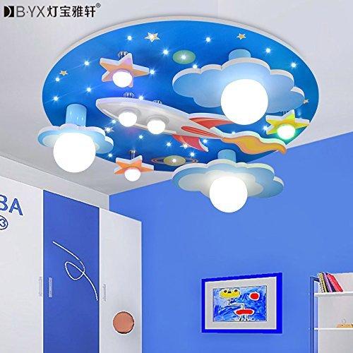 Cnmklm universo stelle stanza dei bambini lampada da soffitto con led a luce bianca lampada bedroom ambiente per ragazzi e ragazze cartoon 610*610*190mm