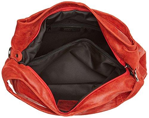 Chicca Borse 80053, Borsa a Tracolla Donna, 46x26x10 cm (W x H x L) Rosso
