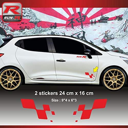 ADNAuto 55548 Sticker Renault Sport Damier pour Clio Megane Twingo