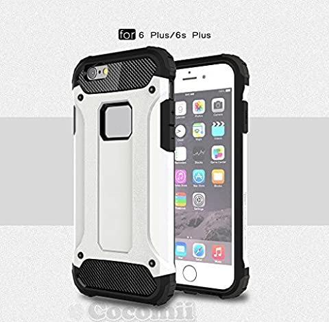 iPhone 6S Plus / 6 Plus Coque, Cocomii Commando Armor NEW [Heavy Duty] Premium Tactical Grip Dustproof Shockproof Hard Bumper Shell [Military Defender] Full Body Dual Layer Rugged Cover Case Étui Housse Apple (White)
