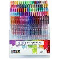 LolliZ Lot de 100 Stylos Billes à Encre Gel Multicolores