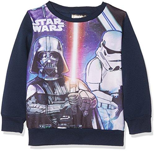 Star Wars Jungen Sweatshirt Old Movies, Blau (Navy 19-4024TC), 3-4 (Herstellergröße: 4 Jahre)