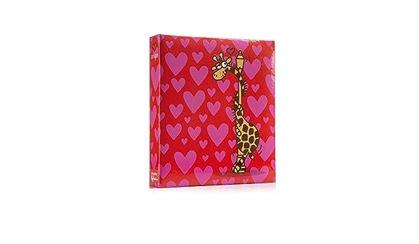 """Giraffe in Love with Lampost 6x4/"""" Slip-in Photo Album"""