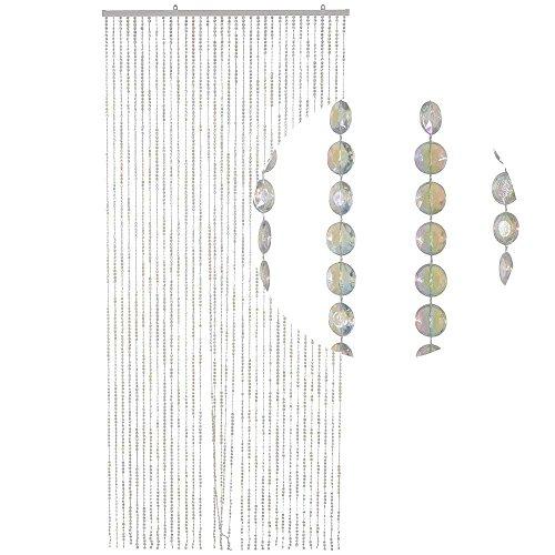 Cortina de puerta de cristales HAB & GUT (DV031) - NACARADO 34 hilos,