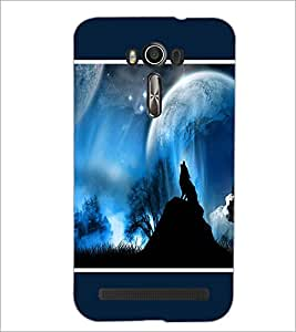 PrintDhaba Night Sky View D-1304 Back Case Cover for ASUS ZENFONE 2 LASER ZE550KL (Multi-Coloured)