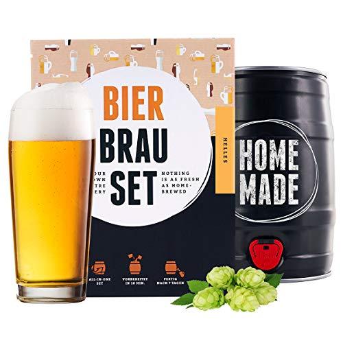 braufaesschen Bierbrauset zum selber Brauen | Helles im 5L Fass | Leckeres Bier In 7 Tagen gebraut | Perfektes Männergeschenk