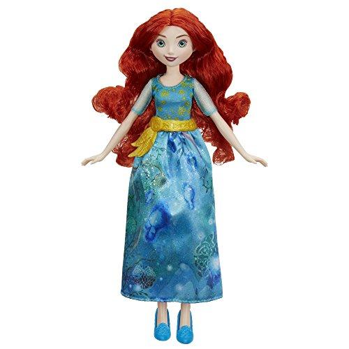 Hasbro E0281ES2 - Disney Prinzessin Schimmerglanz Merida, Puppe (Kostüm Disney Merida)