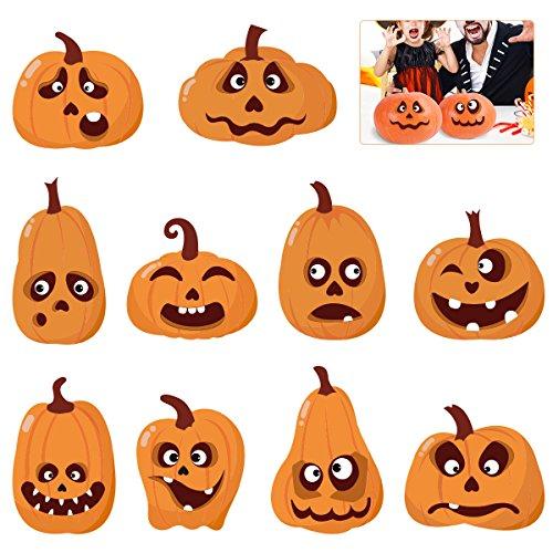 Toyvian Kürbis Sticker Set Faces Expressions Sticker für Halloween Kürbis Dekoration 60St (Halloween Dekoration Ausdrucke)