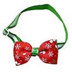 KOTiger Pet Dog Tie Christmas Adjustable Bow Collar Santa Xmas Gift Decor Christmas Pet Supplies 51WEYmgxbqL