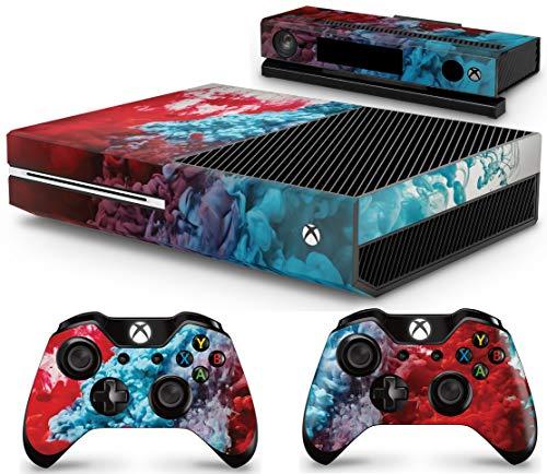 giZmoZ n gadgetZ GNG Xbox One Konsolen-Gehäuseaufkleber, Motiv: Colour Explosion inklusive 2er-Set mit Aufklebern für Controller