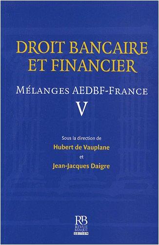 Droit bancaire et financier