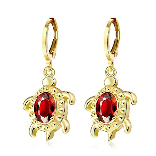 Acxico Gold plate Earrings Turtle Posts Tortoise