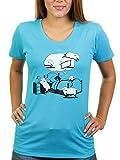 When A Dream Comes True - Damen T-Shirt von Kater Likoli, Gr. 3XL, Sky Blue