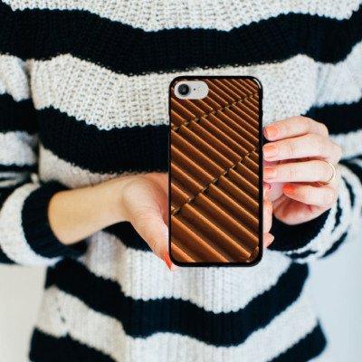 Apple iPhone X Silikon Hülle Case Schutzhülle Dachziegel Ziegel Look Muster Hard Case schwarz