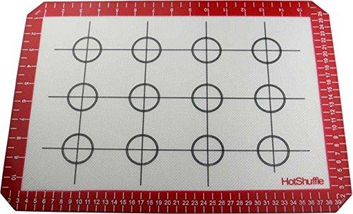 HotShuffle Pro Non-Stick Fibra de vidrio reutilizable de silicona para hornear grande Mat (40cm x 28cm)