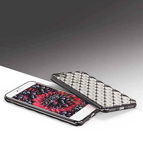 Urcover® Apple iPhone 7 Plus / 8+ Diamond Back-Case Schutz-Hülle | TPU / Silikonhülle in Rosa / Gold | Ultra Slim Handyhülle | Crystal Cover | Smartphone Zubehör Tasche | leichte Schale Schwarz