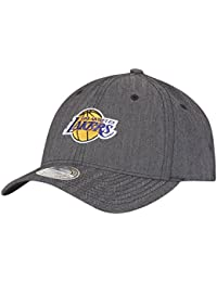 8909dec6a870c Mitchell   Ness Snapback 110 Curved Poly Heringbone Los Angeles Lakers  charcoal