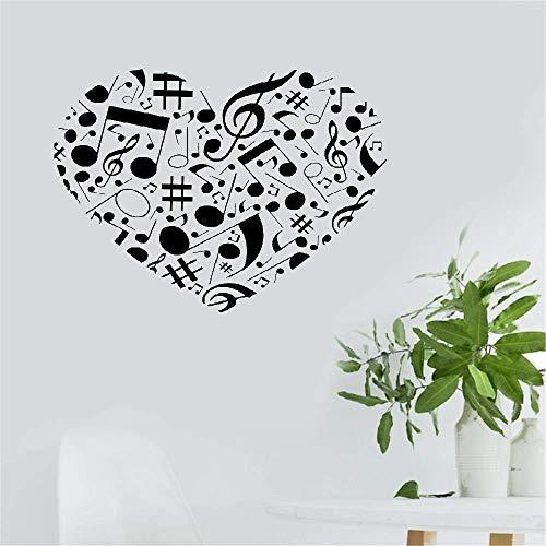 wandaufkleber 3d Musiknote Herz geformt Kinderzimmer Home Decor für Kinderzimmer