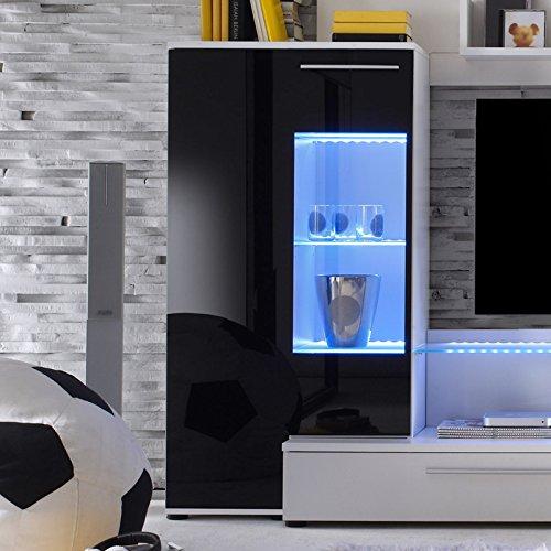 Wohnwand »FUTERA231« weiß, Glas schwarz - 2