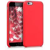 kwmobile Funda para Apple iPhone 6 / 6S - Carcasa de [TPU] para teléfono móvil - Cover [Trasero] en [Rojo Intenso]