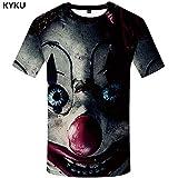 KYKU Clown T-Shirt Männer Anime T-Shirt Hip Hop T-Shirt Gedruckt T-Shirts Gothic Herren Kleidung Neue Sommer Streetwear Kleidung