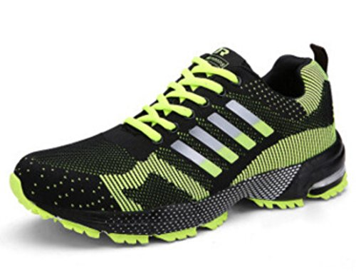 Men's Mesh Breathable Fly Weave Light Running Shoes 8701yellow