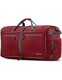 Gonex 100L Borsa da viaggio Borsa Pieghevole Impermeabile per Viaggio Sport  Palestra Campeggio Bagaglio a Mano 5a429b054cf