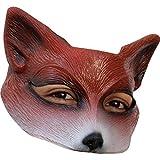 Unbekannt Mahal612–Halbgesichts-Maske im Fuchs-Design, Latex, für Erwachsene–Einheitsgröße