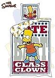 Original the Simpsons Bettwäsche 140x200+63x60 cm BART Class Clown ÖkoTex Baumwolle NEU