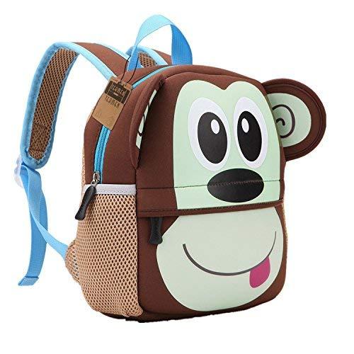 8c65594004 teamen - Zaino per bambini, per la scuola, con animali, età: 2