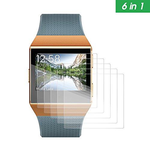 awinner Displayschutzfolie für Fitbit Ionic, Full Deckung Displayschutzfolie für Fitbit Ionic CLEAR HD blasenfrei Film (6er Pack)