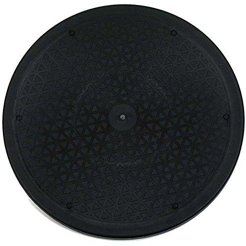 Table tournante, 30cm, plastique noir, robuste