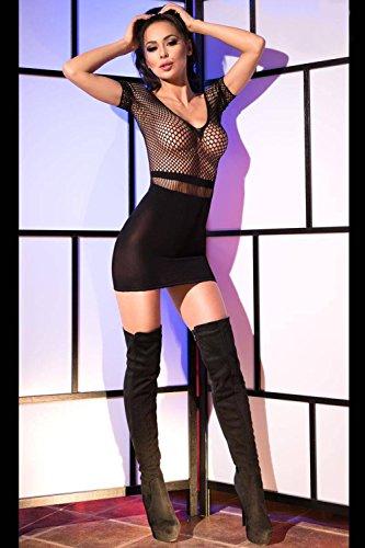 Chilirose Damen Minikleid XL/XXL Schwarz
