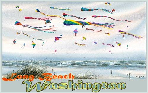Northwest Art Mall Long Beach Washington, ungerahmt, Poster von Dave Bartholet, 28 x 43 cm