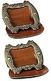 Boucles de chaussure façon marquis gris anthracite languette marron [8019009617]
