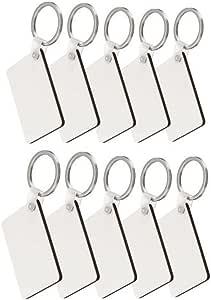 Soulitem 10pcs Carr/és Blank MDF Conseil Impression Sublimation Porte-cl/és pour Machine de Presse de Chaleur