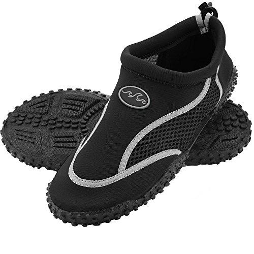 Deuba Wasserschuhe Badeschuhe Surfschuhe Aquaschuhe Strandschuhe Herren Größe 42 schwarz/grau