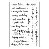 Merry Christmas Happy Birthday Viel Glück Scrapbook DIY Foto Karten Gummi Stempel Clear Stamp transparent Stempel 10 x 15 cm