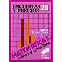 Encuestas y precios (Matemáticas, cultura y aprendizaje)
