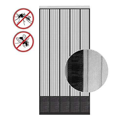 wamovo Insektenschutz Tür mit Kederleiste 185x65cm Breite und Länge einstellbar -