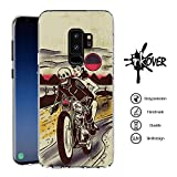 Cover Samsung Galaxy S9 - INKOVER - Custodia Cover Protettiva Guscio Soft Case Bumper Trasparente Sottile Slim Fit Tpu Gel Morbida INKOVER Design OLD SCHOOL Teschio in Moto Rider Vintage Fashion per samsung Samsung Galaxy S9