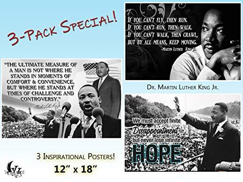 Black History Month Poster/Poster, Motiv: MLK Martin Luther King Jr, 3 Stück (Poster Mlk)