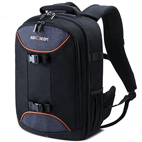 """K&F Concept Rucksack Kamera Fotorucksack Kamerarucksack für zwei Kameras mit Sechs Objektive 12"""" ipad 14""""Laptop 30*16*42cm"""
