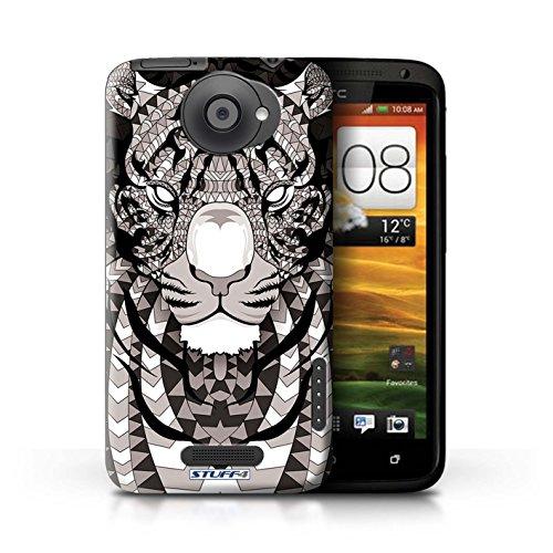 Kobalt® Imprimé Etui / Coque pour HTC One X / Singe-Pourpre conception / Série Motif Animaux Aztec Tigre-Mono
